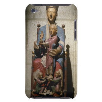 Virgin and Child, (polychrome wood) iPod Case-Mate Case