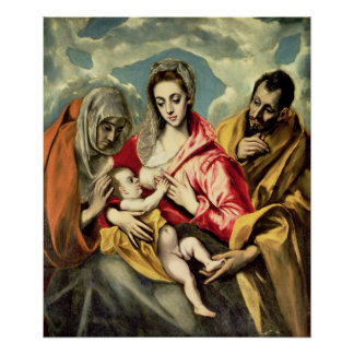 Virgin and Child with SS. Anne and Joseph Poster