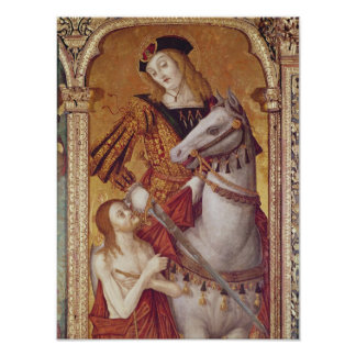 Virgin and Child with SS. Gregory and Martin Poster