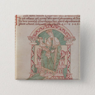 Virgin and Child with St. Gregory the Great 15 Cm Square Badge