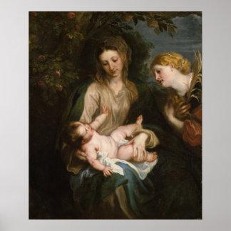 Virgin & Child with Saint Catherine of Alexandria Poster