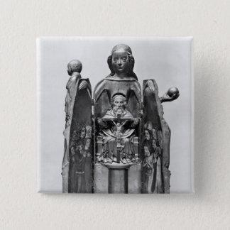 Virgin , early 15th century 15 cm square badge