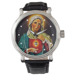 Virgin Mary Sacred Heart Watch (Multiple Models)