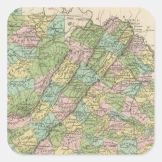 Virginia 3 square stickers