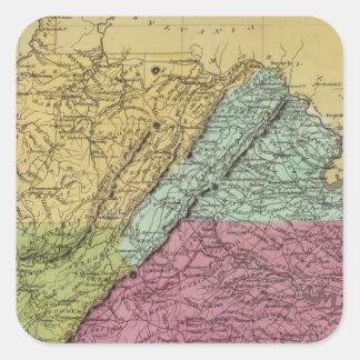 Virginia 7 square sticker