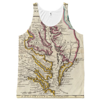 Virginia and Maryland All-Over Print Singlet