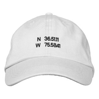 Virginia Beach coordinates ball cap Baseball Cap