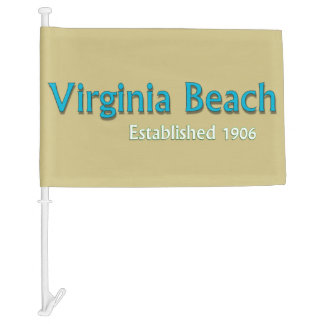 Virginia Beach Flag Car Flag