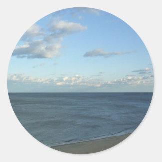 Virginia Beach Ocean View Classic Round Sticker