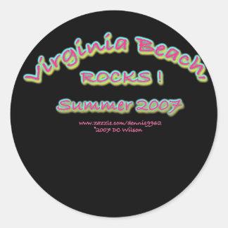 virginia Beach rocks2007 Round Sticker