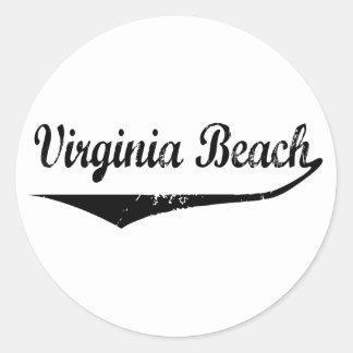 Virginia Beach Round Sticker