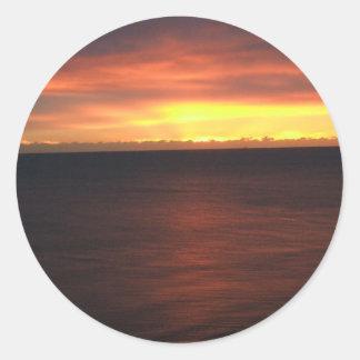Virginia Beach Sunrise Round Stickers