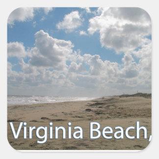 Virginia Beach VA Virginia Coast Square Sticker
