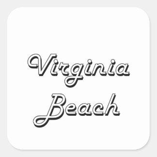 Virginia Beach Virginia Classic Retro Design Square Sticker
