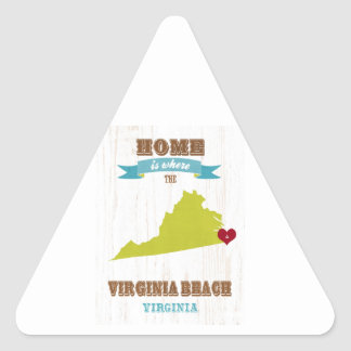Virginia Beach, Virginia Map – Home Is Where Triangle Sticker