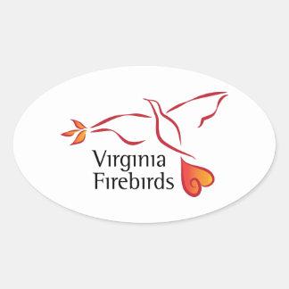 Virginia Firebirds Oval Sticker