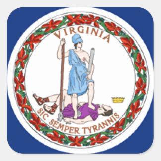 Virginia Flag Square Stickers