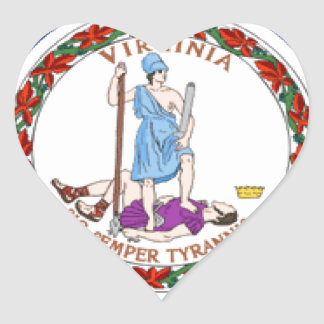 Virginia Flag Heart Sticker