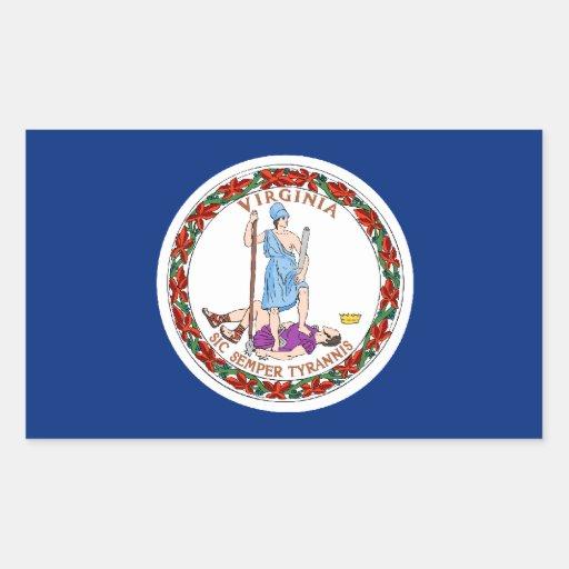 Virginia Flag Stickers