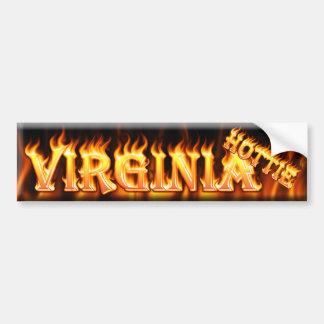virginia hottie car bumper sticker