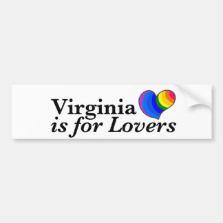 Virginia is for Gay Lovers. Bumper Sticker
