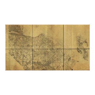 Virginia Map Alexandria to the Potomac River 1860 Canvas Print