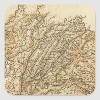 Virginia Map by Arrowsmith Stickers