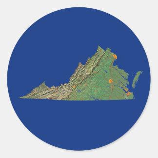 Virginia Map Sticker