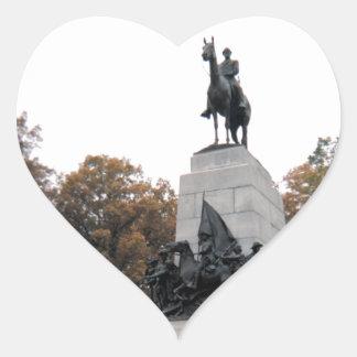 Virginia Memorial at Gettysburg NMP Heart Sticker
