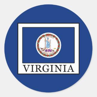 Virginia Round Sticker