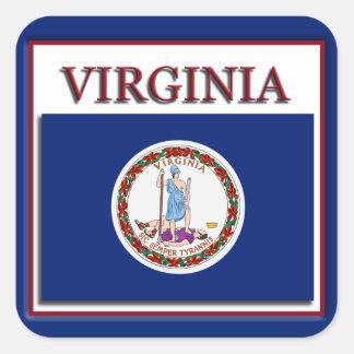 Virginia State Flag Design Sticker