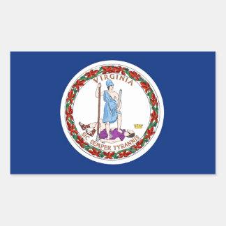 Virginia State Flag Rectangular Sticker
