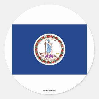 Virginia State Flag Round Sticker