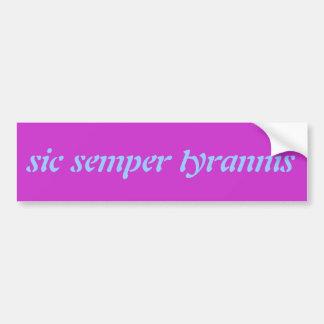 Virginia State Motto Bumper Sticker