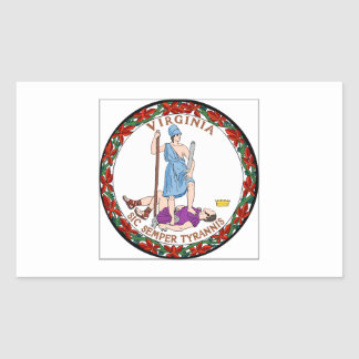 Virginia State Seal Rectangular Sticker