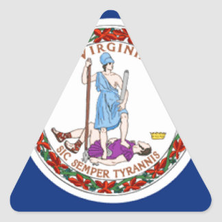 Virginia Triangle Stickers