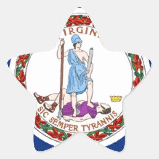 Virginia Star Sticker