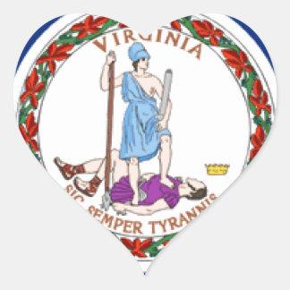 Virginia Heart Sticker