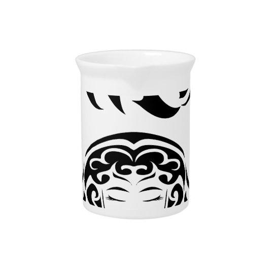 Virgo black letters.png drink pitcher