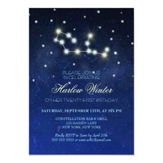 Virgo Constellation Birthday Party Card