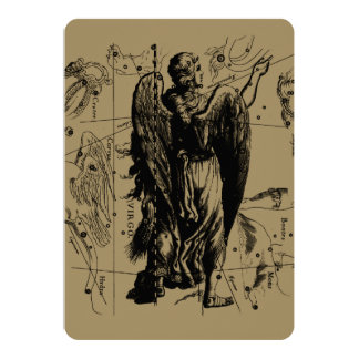 Virgo Constellation Hevelius 1690 Aug 23  Sept 22 Card