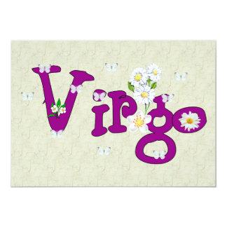 Virgo Flowers Card