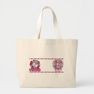 Virgo - Leo  zodiac friendship Large Tote Bag