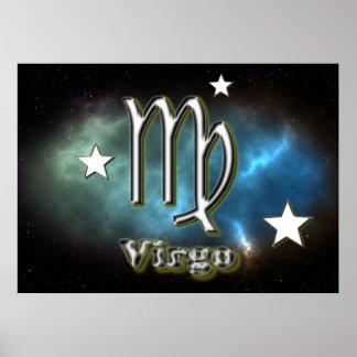 Virgo symbol poster