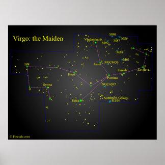 Virgo the Maiden Constellation Poster