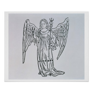 Virgo (the Virgin) an illustration from the 'Poeti Poster