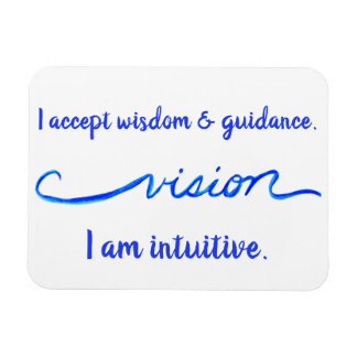 """Vision"" Indigo Eye Chakra Inspiring Words Magnet"