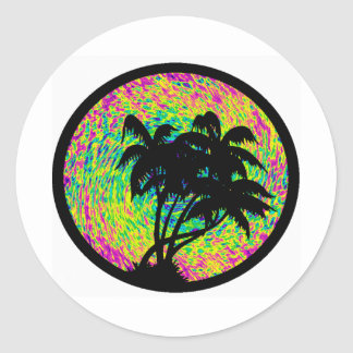 VISION OF PARADISE CLASSIC ROUND STICKER
