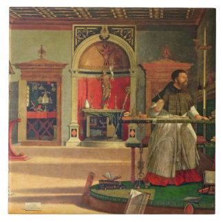 Vision of St. Augustine, 1502-08 (oil on canvas) ( Tile
