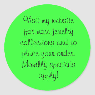 Visit my website for more jewelry collections! round sticker
